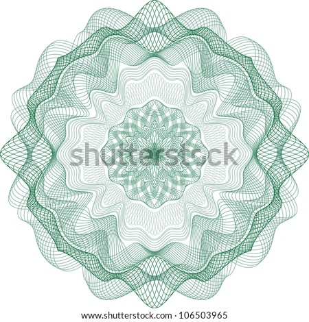 Guilloche Element for Certificate or Diploma, Currency and Money design / vector / All lines are easy editable - stock vector
