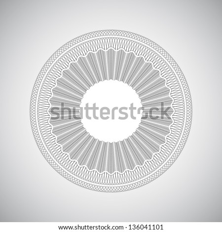 Guilloche elements for certificate or diploma / currency and money design - stock vector