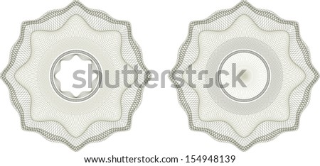 Guilloche pattern that is used in currency and diplomas - stock vector