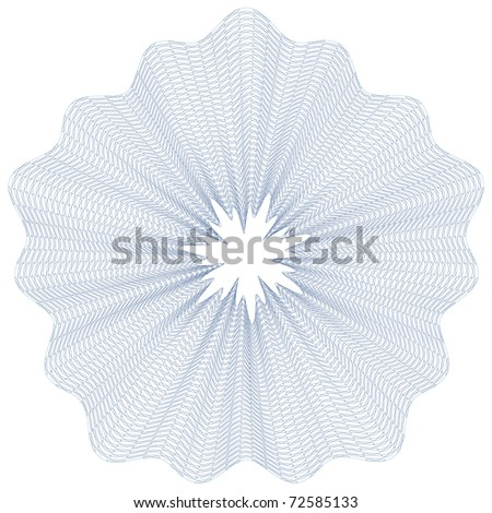 guilloche rosette, vector pattern for currency, certificate or diplomas - stock vector