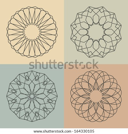 Guilloche vector elements.  - stock vector