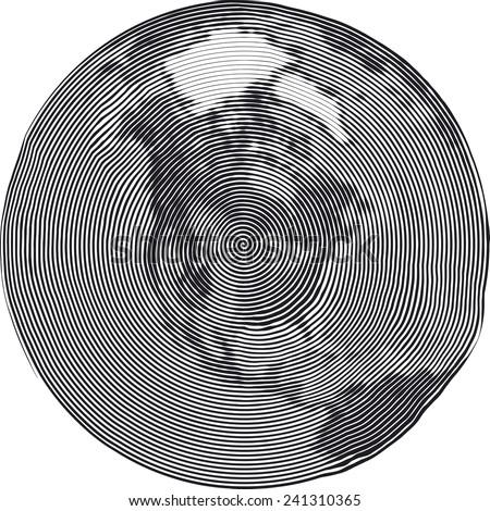 Guilloche Vector Illustration of North Americas Uzumaki stile - stock vector