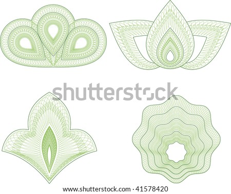 Guilloche vector pattern for currency, certificate or diplomas - stock vector