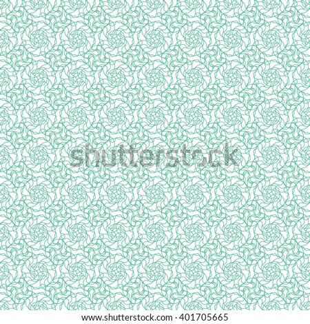 Guilloshe background. Repeating guilloshe rosettes. Seamless abstract background pattern with green guilloche ornament on white (transparent) background. Vector illustration eps - stock vector