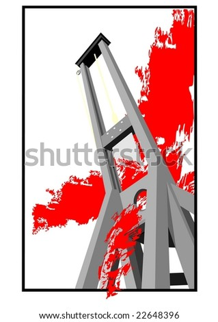guillotine - stock vector