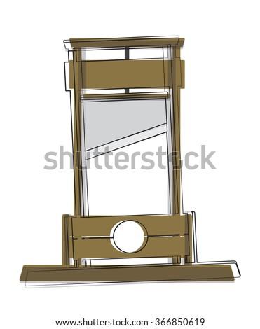 Guillotine Illustration / Vector - stock vector