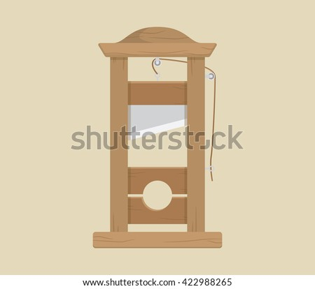 guillotine sign or symbol as france legend vector graphic illustration - stock vector