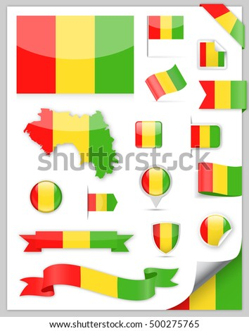 Guinea Bissau Flag Set - Vector Collection