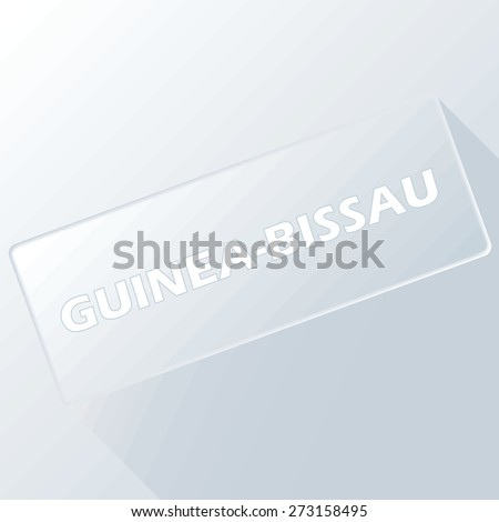 Guinea-Bissau unique button for any design. Vector illustration
