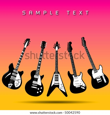 Guitar background - stock vector