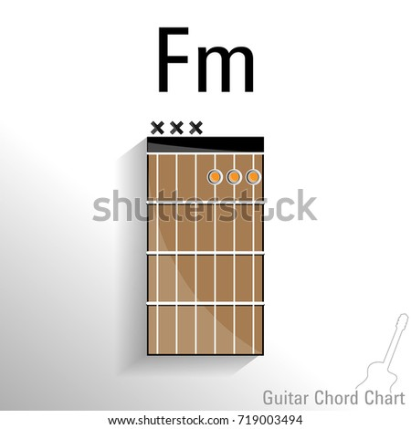 Guitar Chord Fm Chart Vector Design Stock Vector (Royalty Free ...