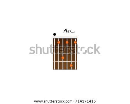 Guitar Chords A7 Stock Vector 714171445 - Shutterstock