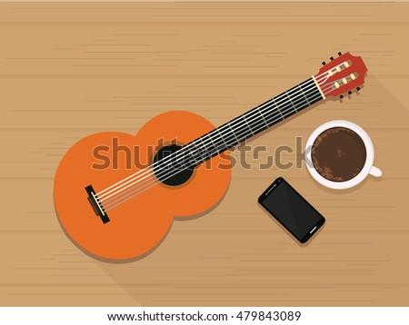 coffee guitar imágenes pagas y sin cargo, y vectores en stock