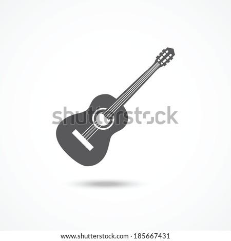 Guitar icon - stock vector