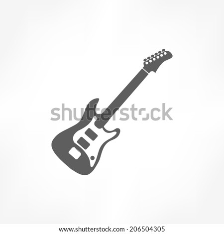 guitar icon - stock vector