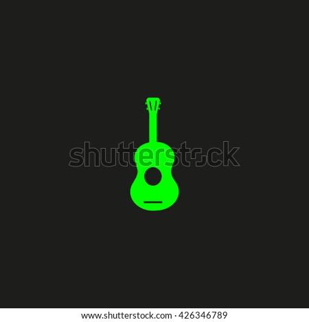 guitar icon vector - stock vector
