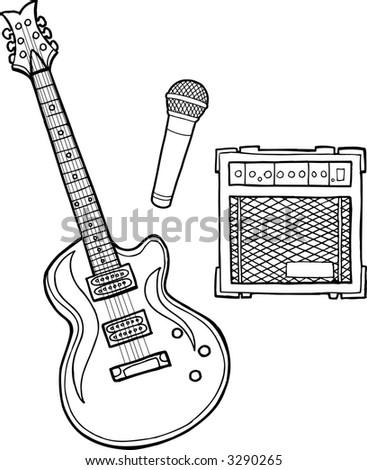Guitar Vector Illustration - stock vector