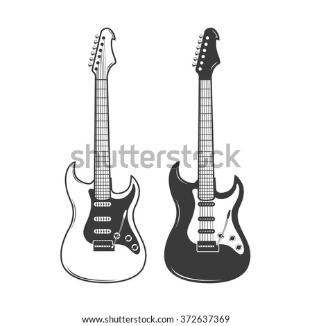 electric guitar vector stock images, royalty-free images & vectors