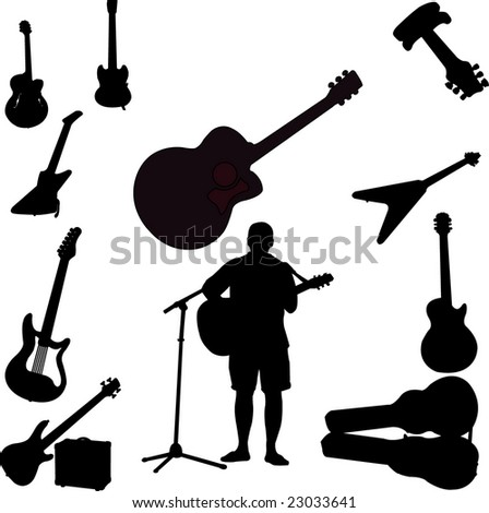 guitars colection - vector
