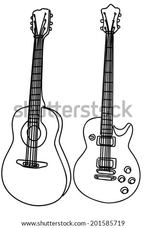 Guitars, vector