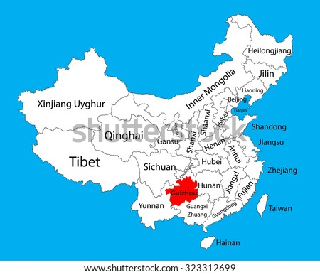 Taiwan province map china vector map stock vector 323312753 guizhou province map china vector map illustration isolated on background editable china map vector gumiabroncs Images