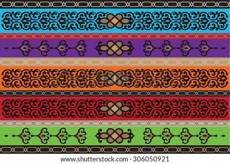 Gulf Region Oriental Ornamental Motif - stock vector