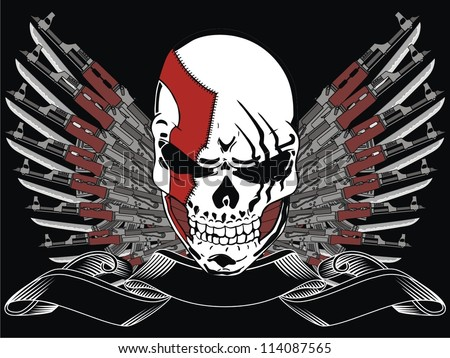 Cool Skull Logos With Guns Tattoo Skull An...