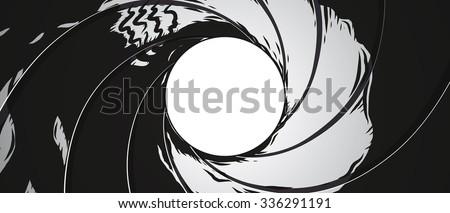 Gun Barrel - Illustration - stock vector