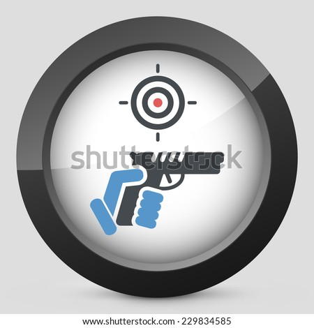 Gun icon - stock vector