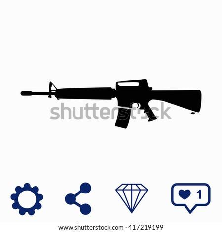 Gun icon. - stock vector
