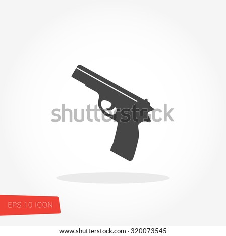 Gun Icon / Gun Icon Object / Gun Icon Picture / Gun Icon Drawing / Gun Icon Image / Gun Icon Graphic / Gun Icon Art / Gun Icon JPG / Gun Icon JPEG / Gun Icon EPS / Gun Icon AI  - stock vector