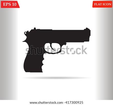 Gun icon vector  - stock vector