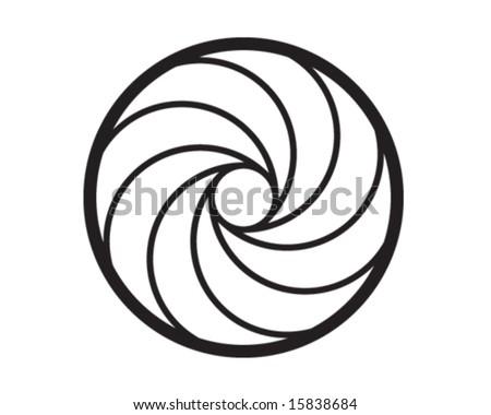 Gun spiral vector art - stock vector