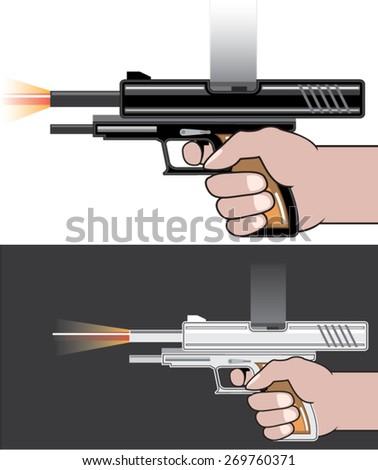 Gunfire vector - stock vector