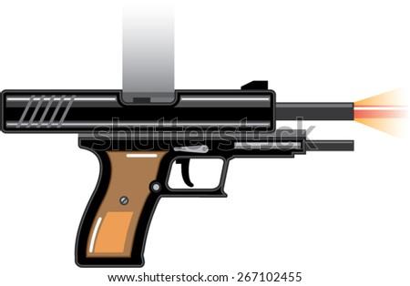 Gunshot - stock vector
