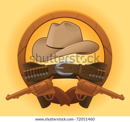 Gunslinger Gear - vector - stock vector
