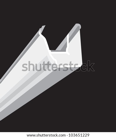 guttering - stock vector