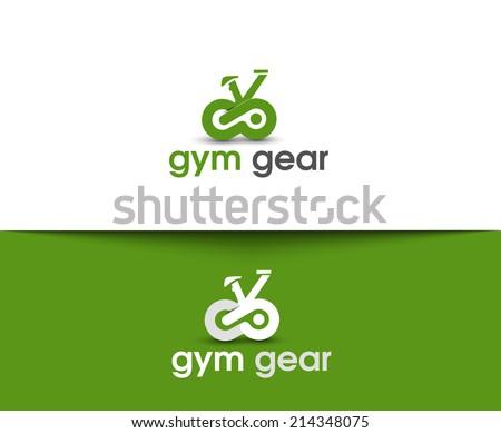 Gym Gear Web Icons and Vector Logo  - stock vector