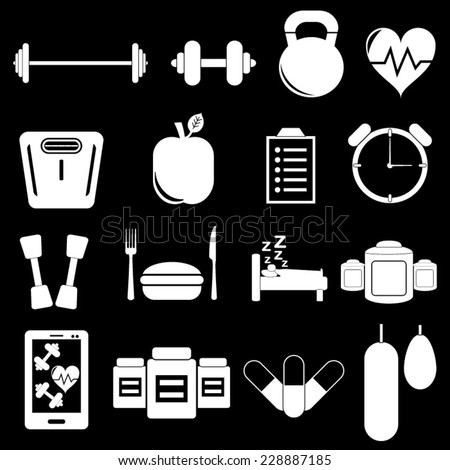 Gym Icons - stock vector