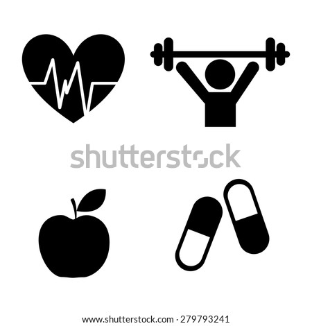 gym icons design, vector illustration eps10 graphic  - stock vector
