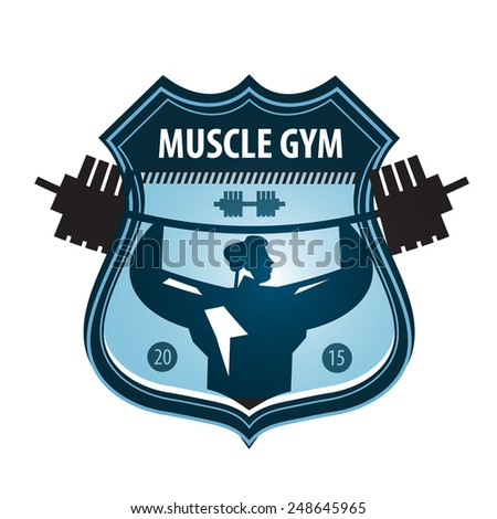 gym vector logo design template. heavy athletics or sports icon. - stock vector