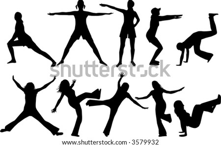 Gymnastics - stock vector