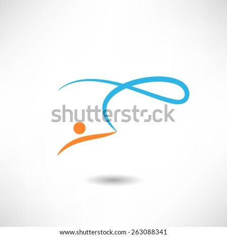 Gymnastics icon - stock vector