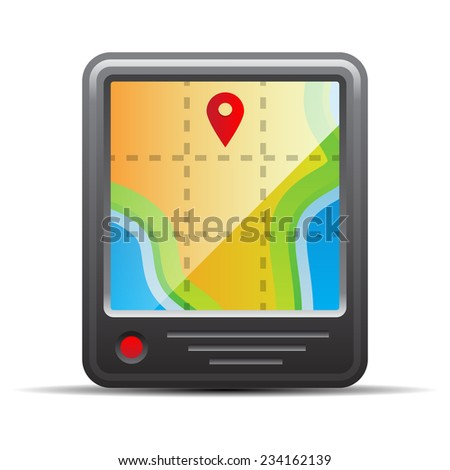 GYPS navigation. Vector illustration