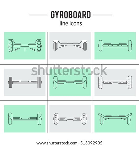 line balancing template - gyro scooter stock photos royalty free images vectors