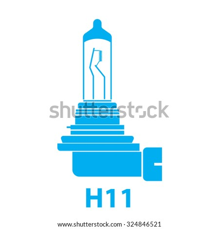 H11 car light lamp vector icon