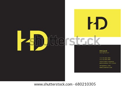 Hd stock images royalty free images vectors shutterstock h d joint letter logo design with business card template thecheapjerseys Image collections