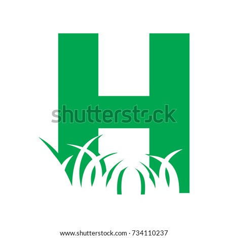 h lawn care logo stock vector royalty free 734110237 shutterstock