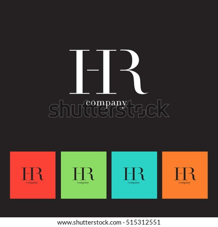 h r letters logo vector element