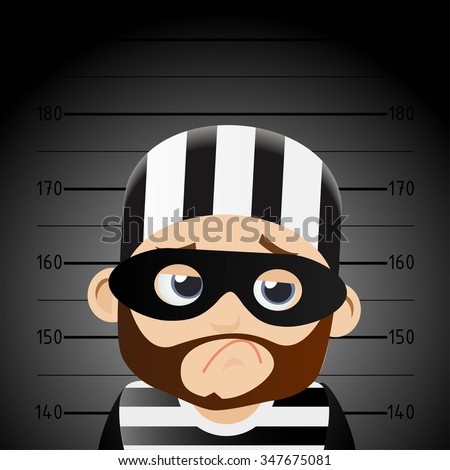 Hacker and Thief - stock vector